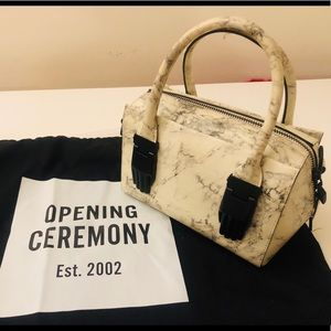 Opening Ceremony marbled top handle crossbody bag